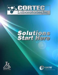 Cortec Lab Brochure Cover